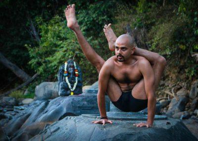Yogi Trupta practicing Yoga