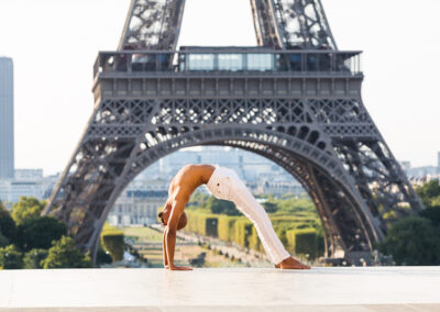 Back bend at Eiffel Tower